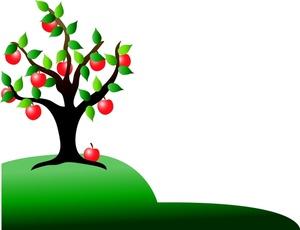 Apple Tree Clipart Image.