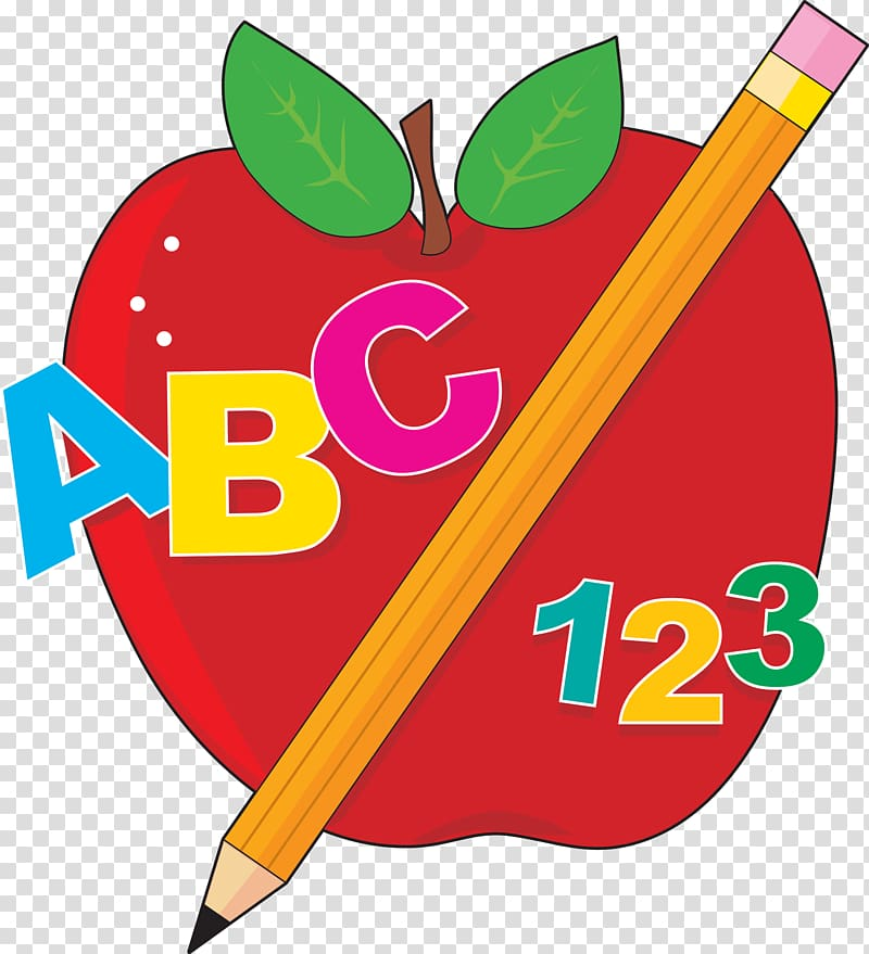 Red apple and pencil , Student School Education Free content.