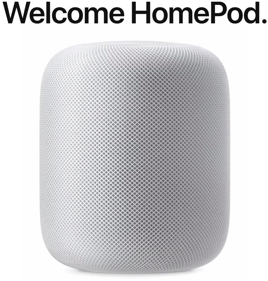Apple announces HomePod smart speaker.