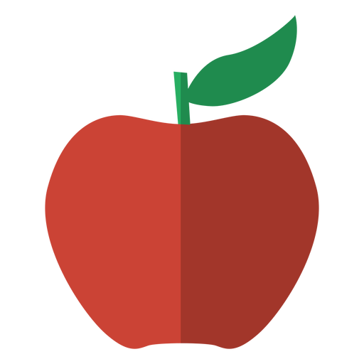 Red apple icon fruit.