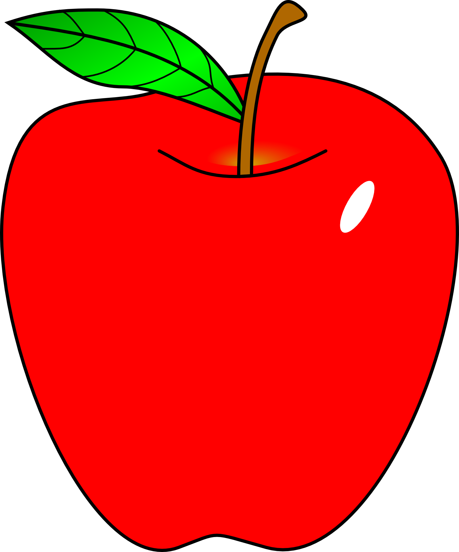Clipart Free Stock Apple Clip Red Clipart.