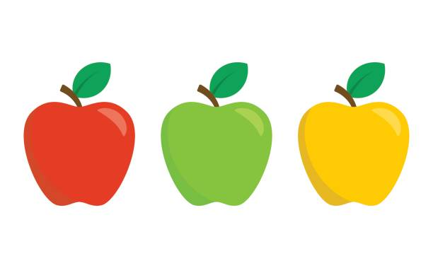 Best Green Apple Illustrations, Royalty.