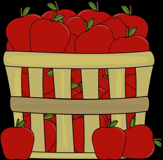 Apple in a bucket clipart.