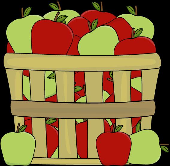Bucket Of Apples Clipart.