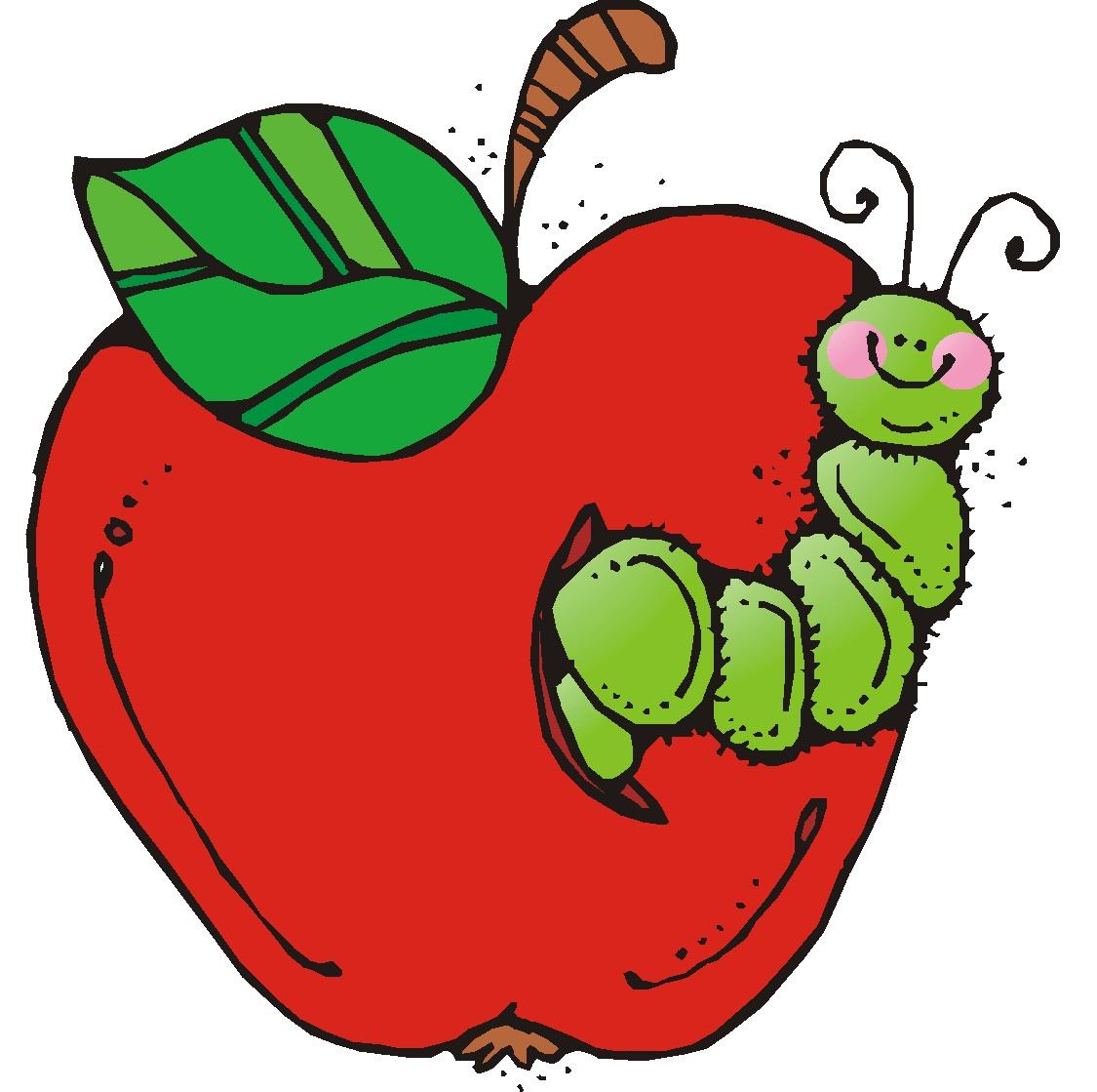 Teacher Apple Worm Clipart.
