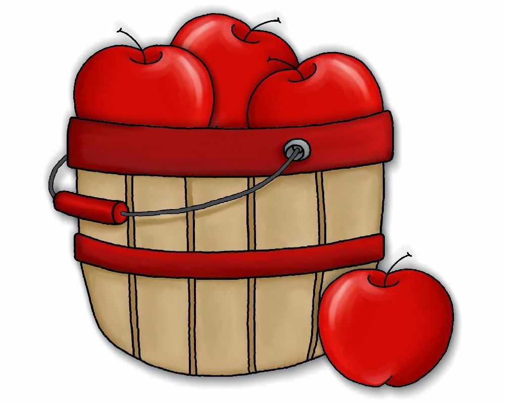 Cute Apple Basket Clipart.
