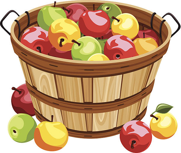Apple basket clipart 3 » Clipart Station.