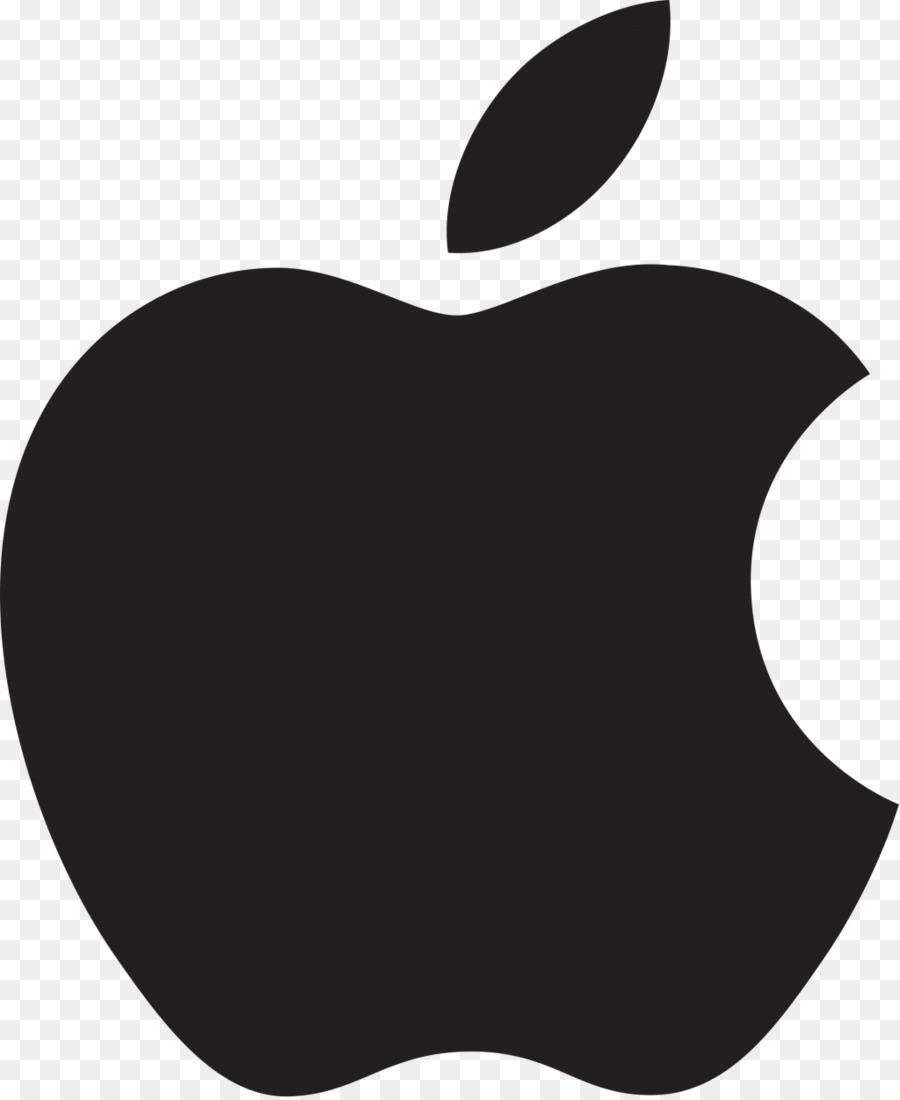 White Apple Logo clipart.