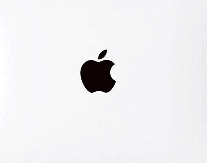 Wallner 5pcs in set metal Black Apple Logo Overlay metal Decal sticker For  iPhone 6Plus 5s 5c 7plus Iphone8/8plus (Black).