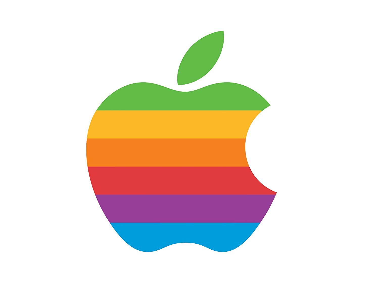 CRYSTAL SKIN Apple Rainbow logo for Apple iPhone 6/6S PLUS, 7 Plus.