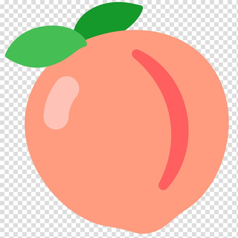 Peach fruit , iPhone Emoji Peach Sticker Text messaging.