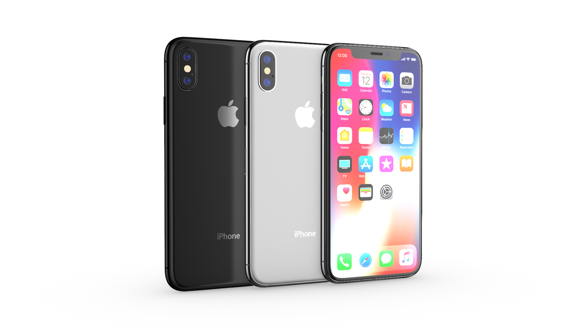 Apple iPhone X All colors.