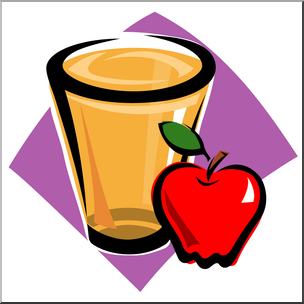 Clip Art: Apple Juice Color I abcteach.com.