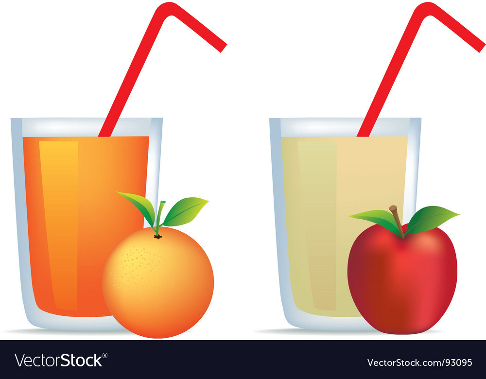 Orange and apple juice.
