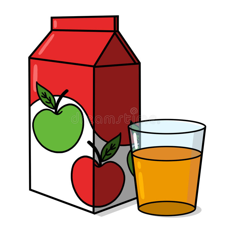 Apple Juice Carton Stock Illustrations.