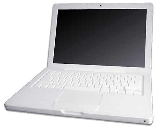 Apple Laptop PNG Picture.