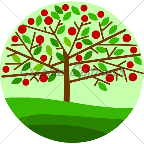 Green Apple Tree Clipart.