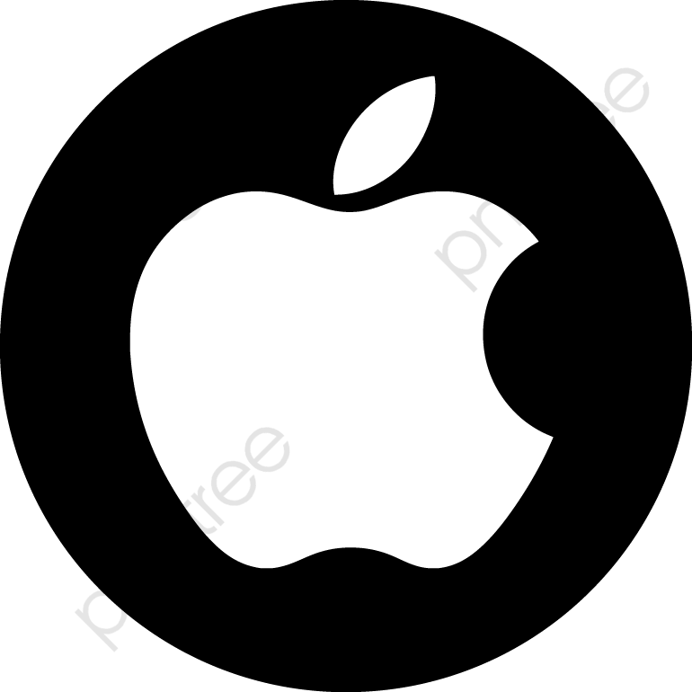 Black Set Off Apple Logo, Logo Clipart, Logo Material, Apple Logo.