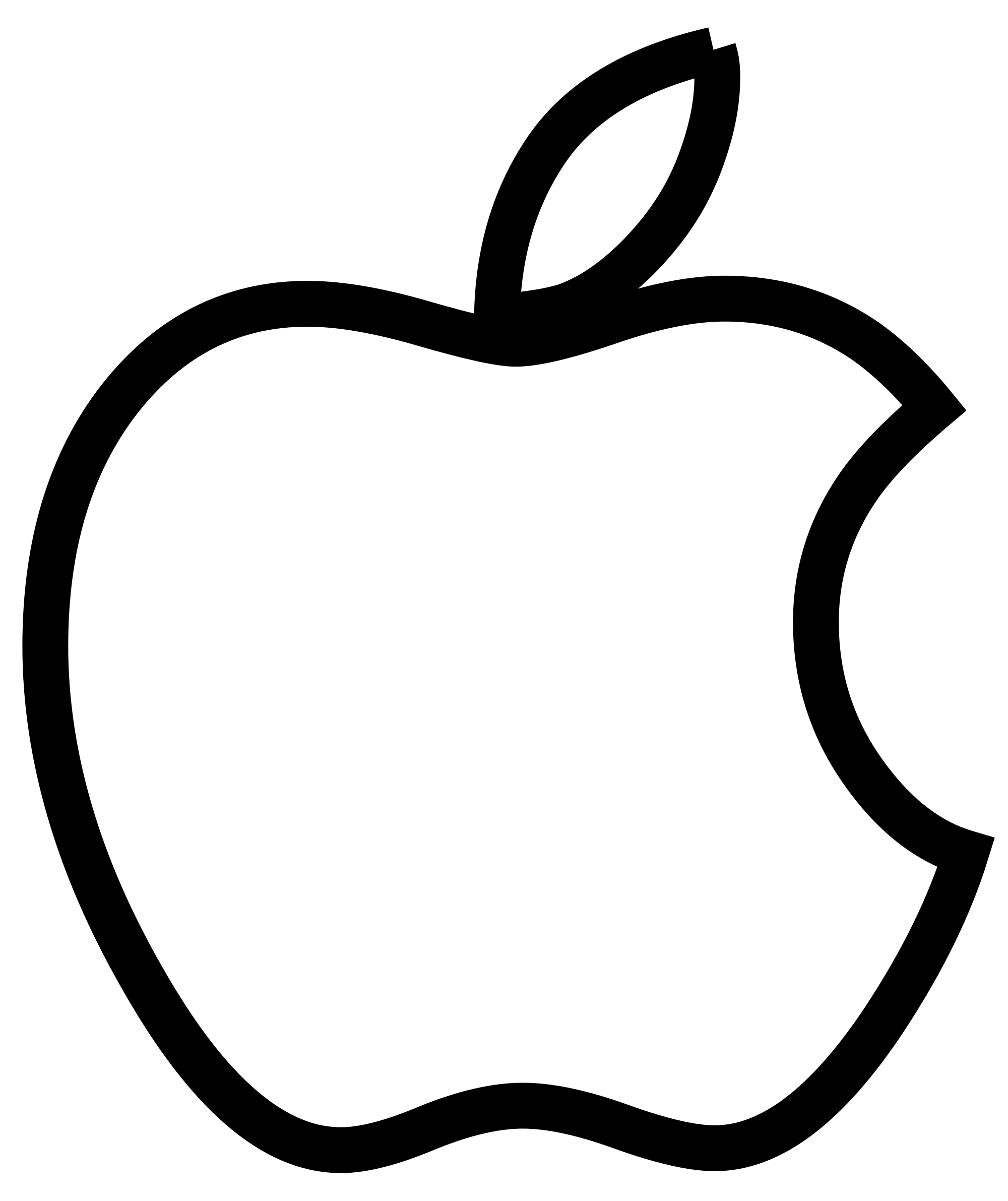 Apple Logo Clipart Black And White.