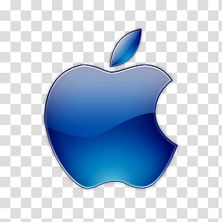 Apple Colors Icon , Apple Colors, blue Apple logo.