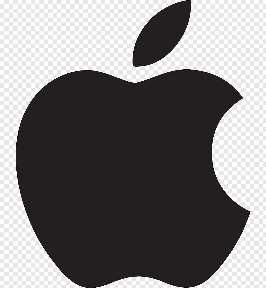Apple logo, Apple Logo Scalable Graphics Icon, Pure black.