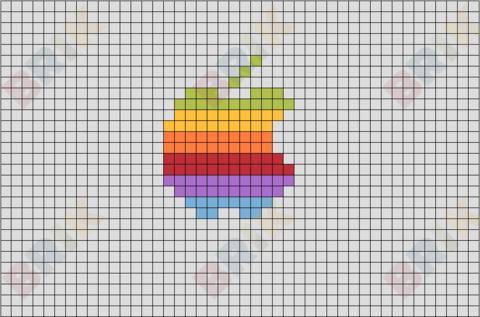 Coloured Apple Logo.
