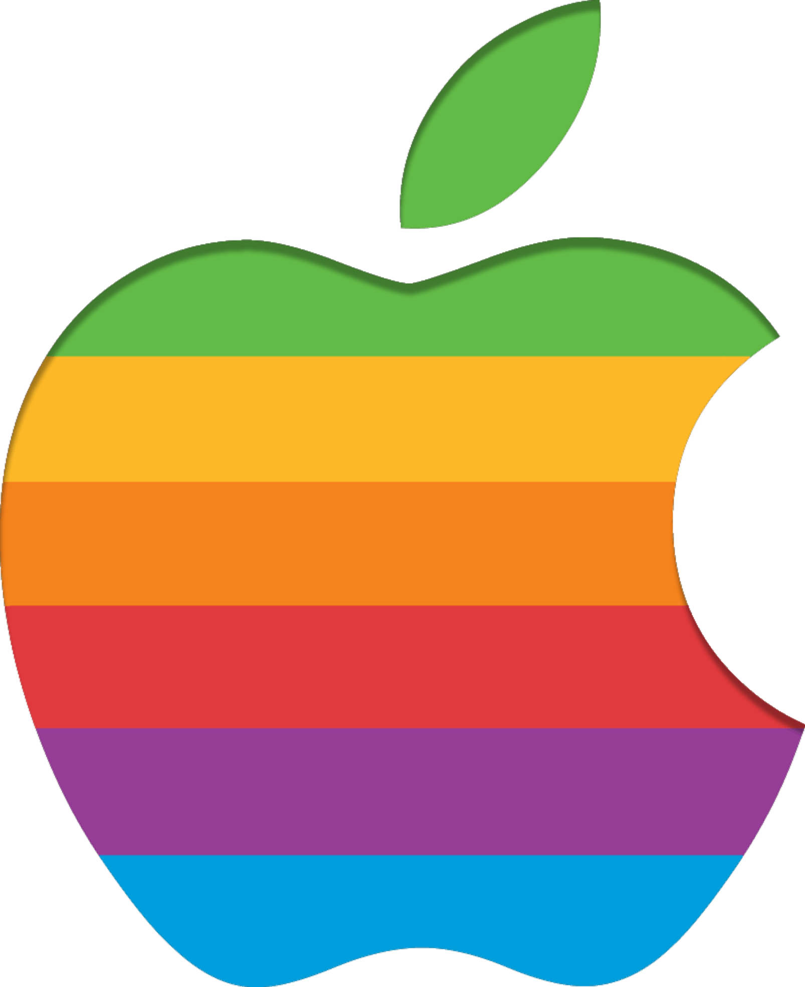 Apple Retro Logo transparent PNG.