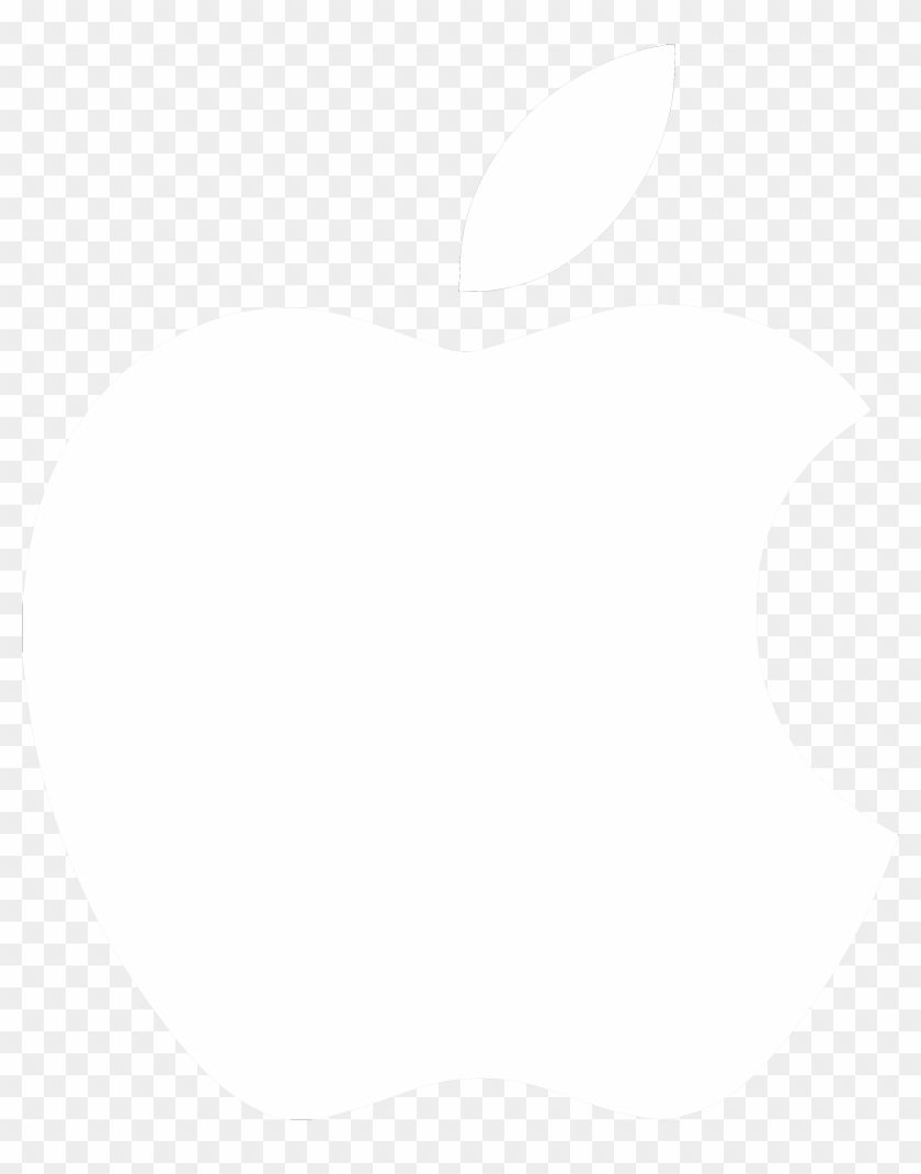 White Transparent Apple Logo.