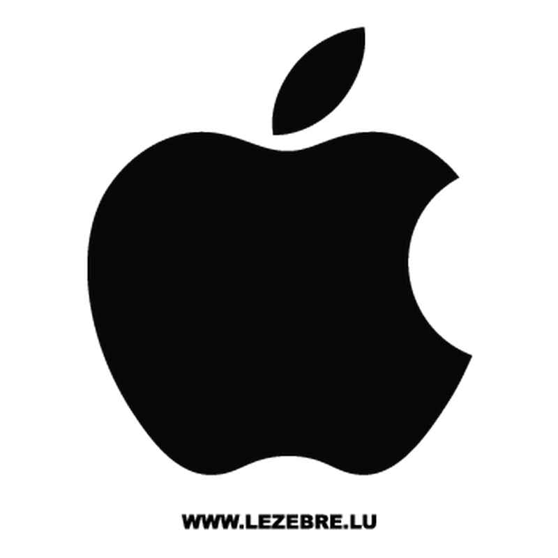 Apple Logo Mac Decal.