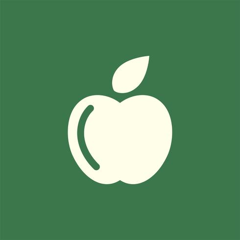 Green colored apple logo vector.
