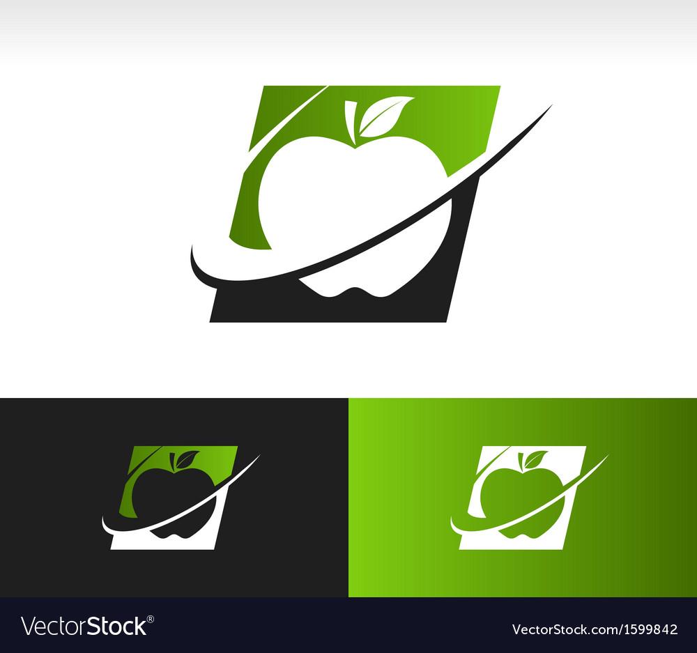 Swoosh Apple Logo Icon.