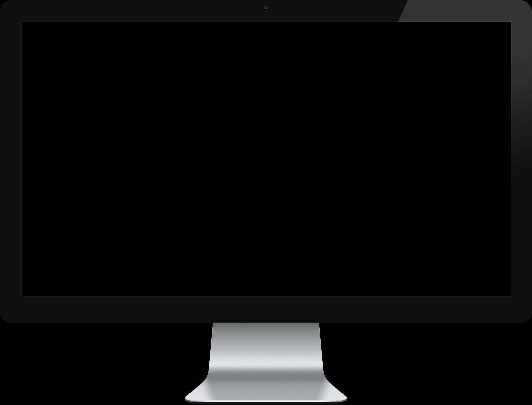 Mac Apple Monitor transparent PNG.