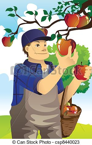Vectors of Apple farmer.