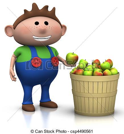 Clipart of apple harvest.