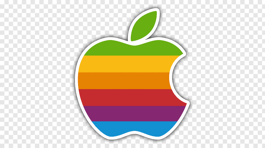 Apple logo, Apple II Logo Color Rainbow, Sticker free png.