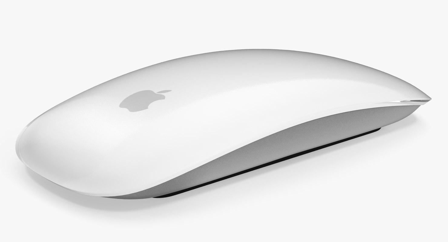 Apple Magic Mouse 3D Model.
