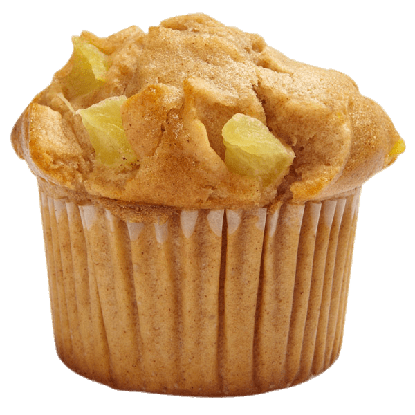 Muffin Apple Cinnamon transparent PNG.