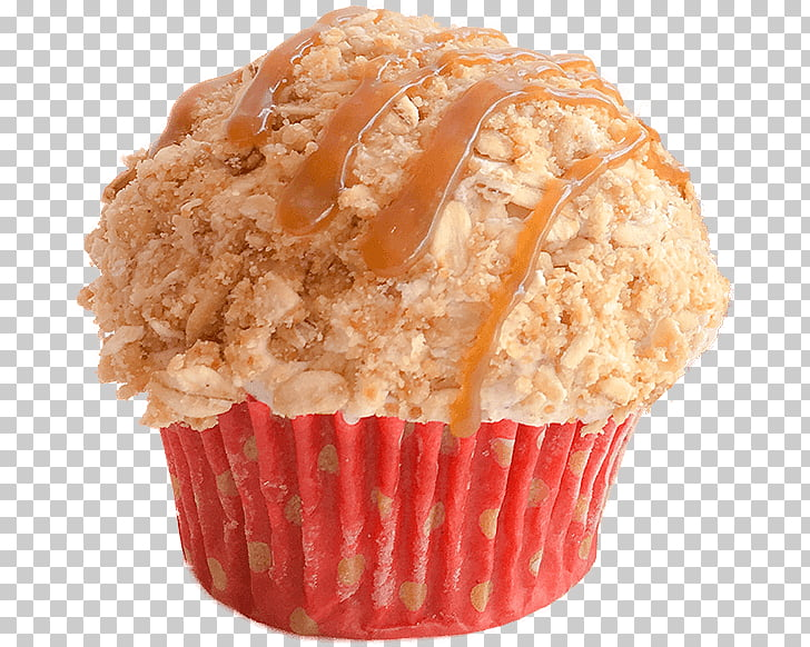 Muffin Cupcake Buttercream Flavor Baking, Apple crumble PNG.