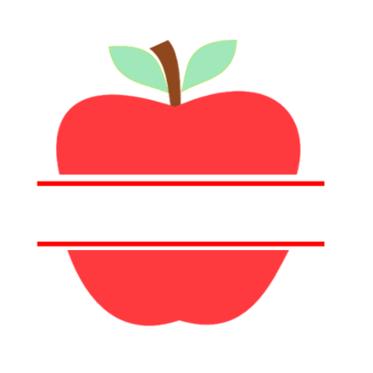 Teacher Appreciation Apple Design SVG Cricut.