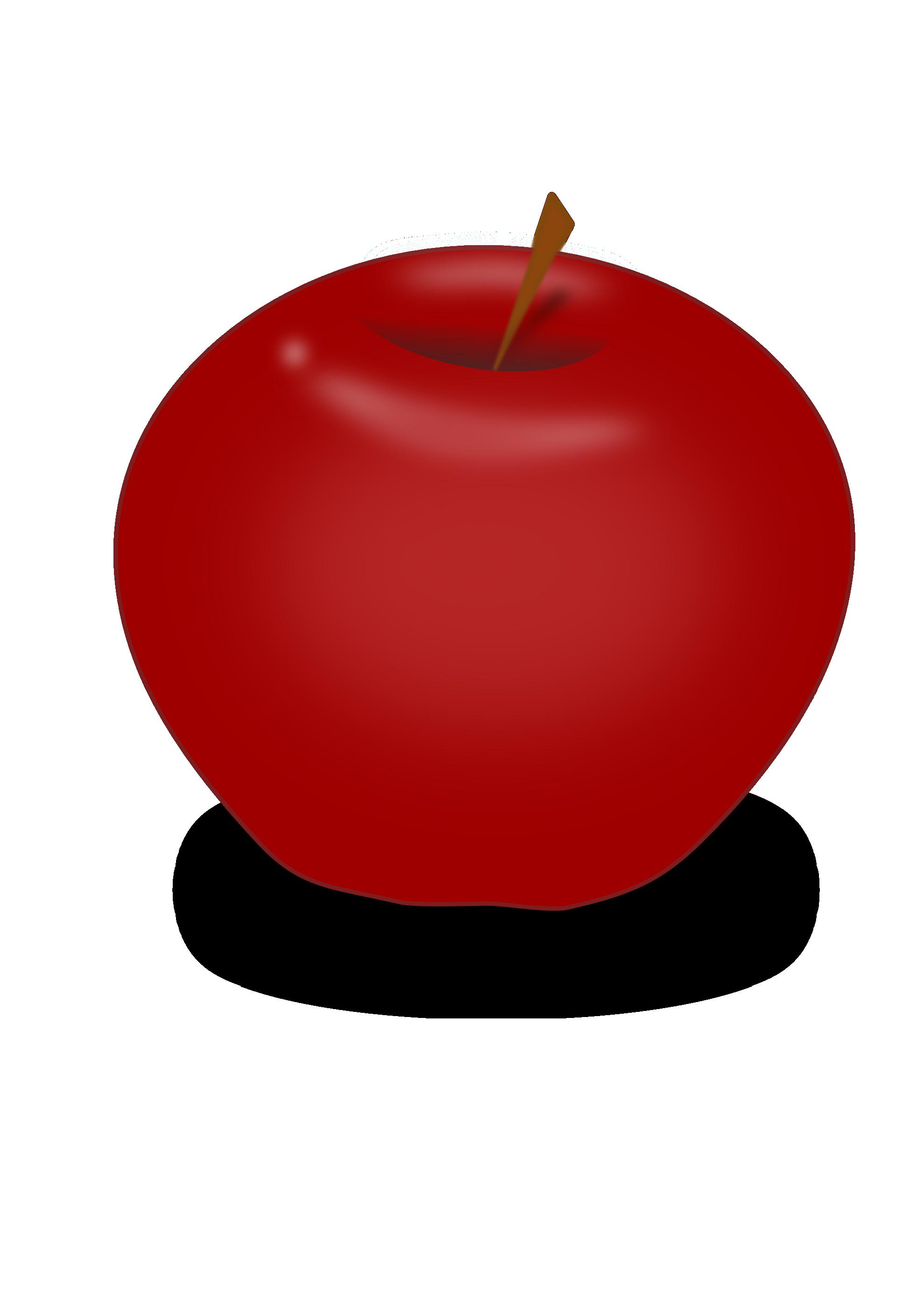 Apple no stem free clipart.