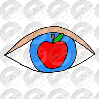 Apple of My Eye Picture for Classroom / Therapy Use.