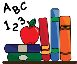 Books With Apple Clipart.