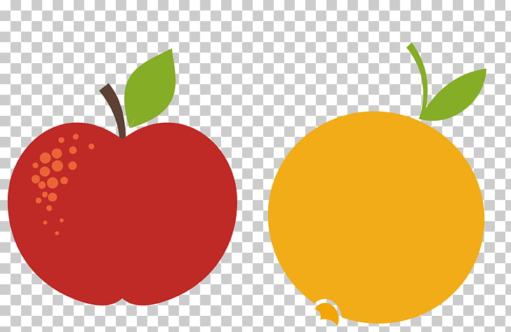 Apple Orange Red, red and yellow apples oranges PNG clipart.