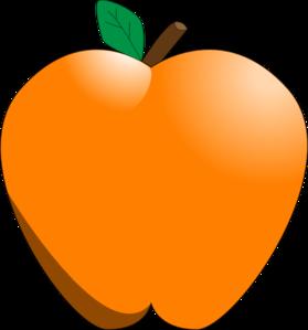 Orange Apple Clipart.
