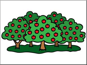 Clip Art: Apple Orchard Color I abcteach.com.