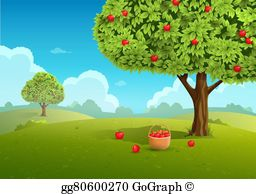 Apple Orchard Clip Art.