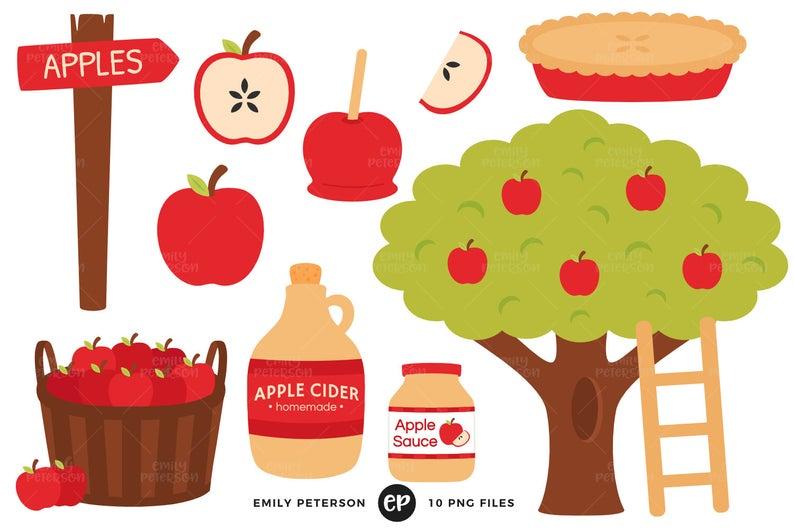 Apple Orchard Clip Art, Apples Clipart, Apple Tree Clip Art.