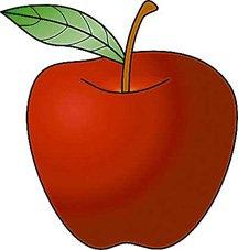 Apple picking bag clipart.