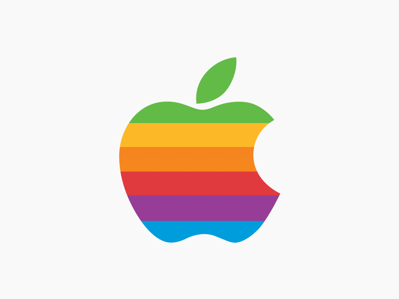 Apple Original 6 colours logo in 2019.