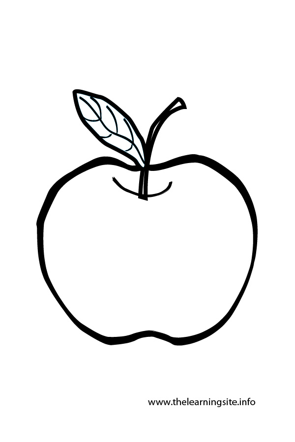 Apple Outline Clip Art.